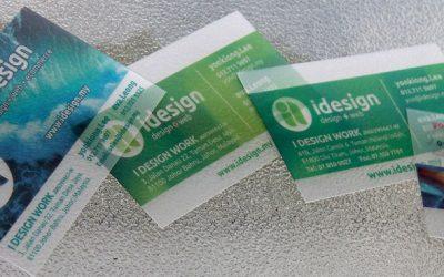 印刷小教室 – 半透明磨砂名片